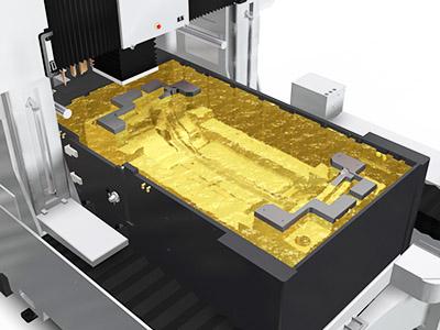 электроэрозионный прошивной станок AQ15L - рабочая ванна