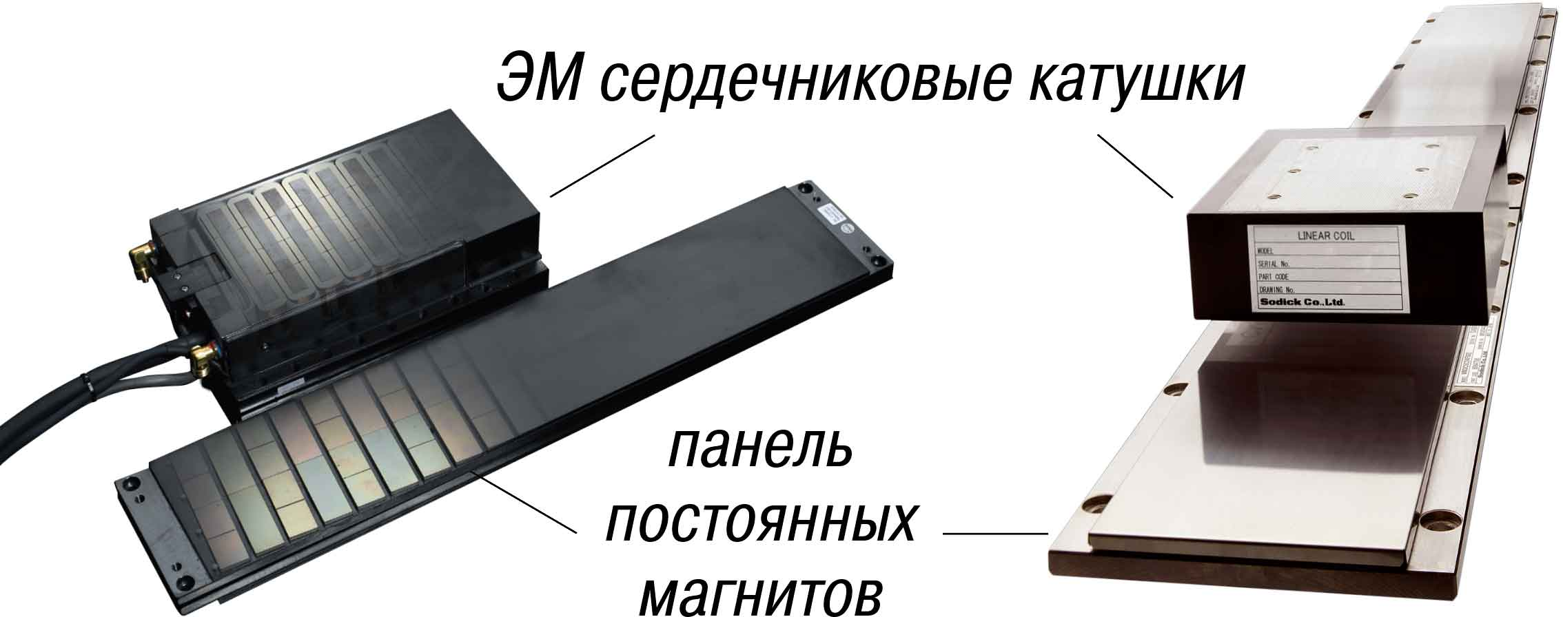 планарный линейный двигатель Sodick